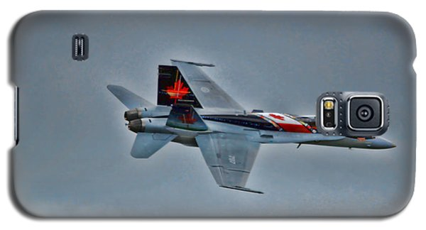 Canadian Cf18 Hornet Fly By Galaxy S5 Case by Cathy  Beharriell
