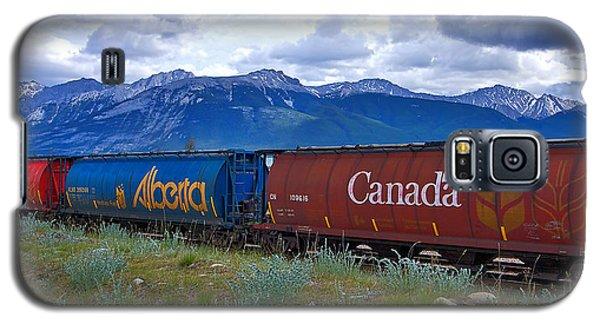 Canadian Freight Train In Jasper #2 Galaxy S5 Case