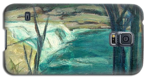 Galaxy S5 Case featuring the painting Canajoharie Creek Near Village by Betty Pieper