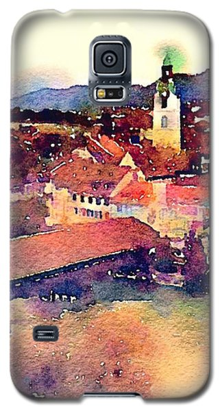 Galaxy S5 Case featuring the photograph Canal At Thurgau by Susan Maxwell Schmidt