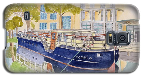 Galaxy S5 Case featuring the painting Canal Boat by Eva Ason