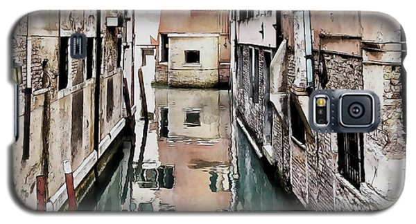 Galaxy S5 Case featuring the digital art Canal In Venice by Kai Saarto