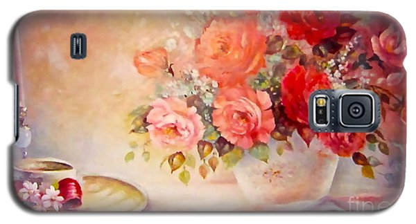 Candlelight Roses And Hat Galaxy S5 Case by Patricia Schneider Mitchell