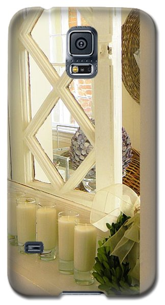 Candles And Wicker And Window Galaxy S5 Case by Jean Goodwin Brooks
