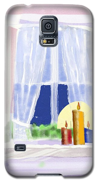 Galaxy S5 Case featuring the digital art Candles In The Window by Arline Wagner