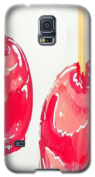Galaxy S5 Case featuring the painting Candy Apples by Marisela Mungia