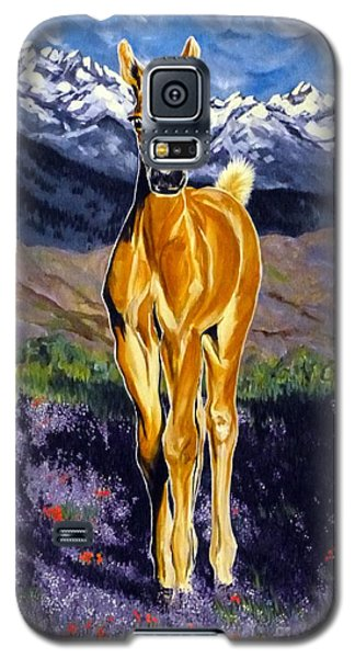 Candy Rocky Mountain Palomino Colt Galaxy S5 Case by Jackie Carpenter