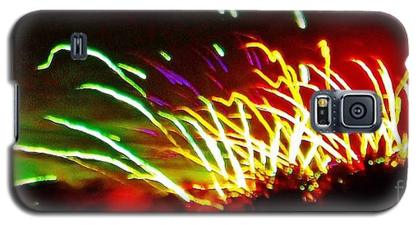 Candy Stripe Fireworks Galaxy S5 Case