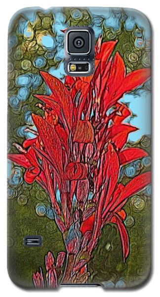 Canna Lily Galaxy S5 Case by Dennis Lundell