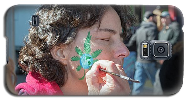 Cannabis Face Painting Galaxy S5 Case by Jim West