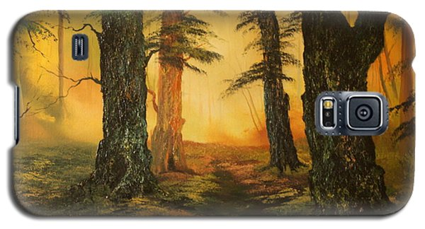 Cannock Chase Forest In Sunlight Galaxy S5 Case by Jean Walker