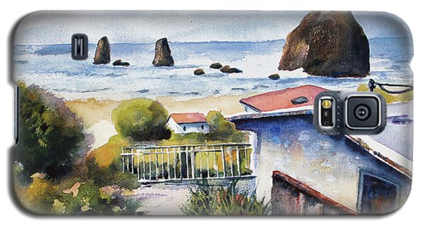 Galaxy S5 Case featuring the painting Cannon Beach Cottage by Marti Green