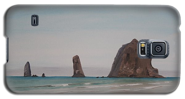 Cannon Beach Haystack Rock Galaxy S5 Case by Ian Donley