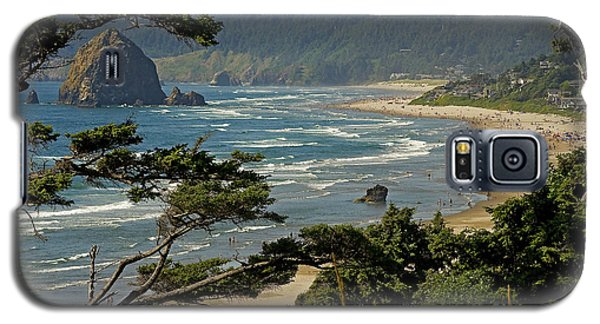 Galaxy S5 Case featuring the photograph Cannon Beach Seascape by Nick  Boren