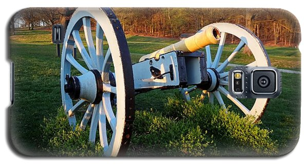 Cannon In The Grass Galaxy S5 Case by Michael Porchik