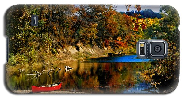 Canoe On The Gasconade River Galaxy S5 Case