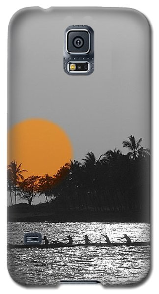 Canoe Ride In The Sunset Galaxy S5 Case by Athala Carole Bruckner