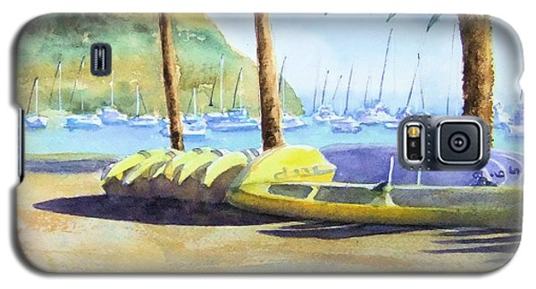 Canoes And Surfboards In The Morning Light - Catalina Galaxy S5 Case