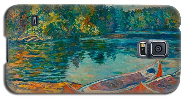 Canoes At Mountain Lake Galaxy S5 Case