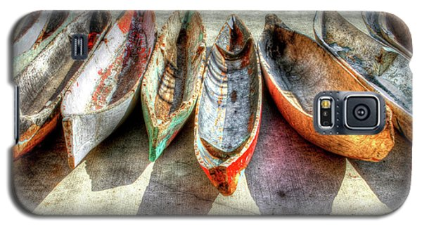 Canoes Galaxy S5 Case by Debra and Dave Vanderlaan