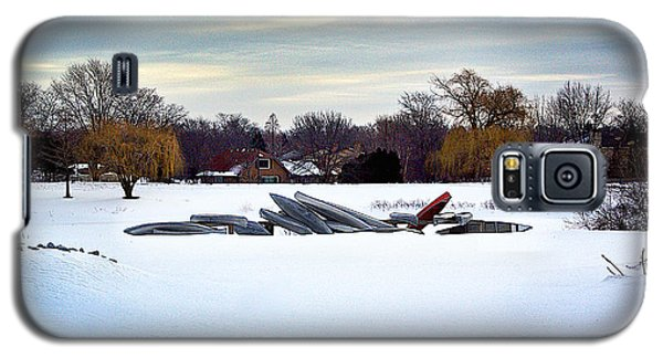 Canoes In The Snow Galaxy S5 Case
