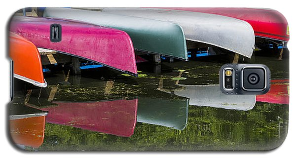 canoes - Lake Wingra - Madison  Galaxy S5 Case by Steven Ralser