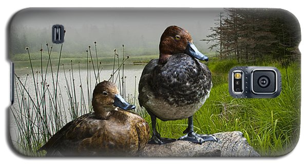 Canvasback Duck Pair By A Pond Galaxy S5 Case