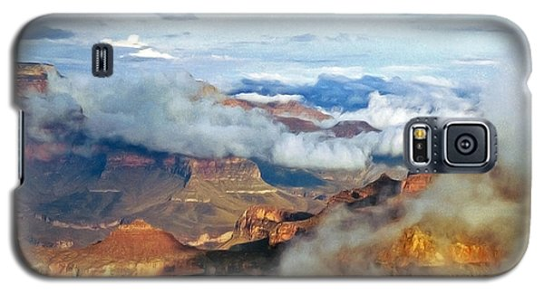Galaxy S5 Case featuring the photograph Canyon Clouds by Alan Socolik