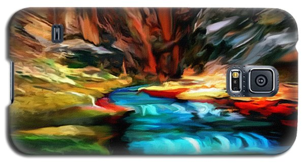 Canyon Waterfall Impressions Galaxy S5 Case