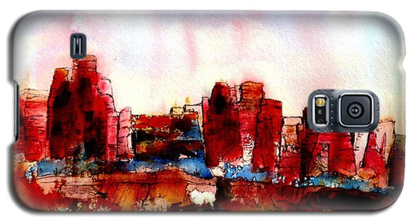 Galaxy S5 Case featuring the painting Canyonlands 02 by Anne Duke