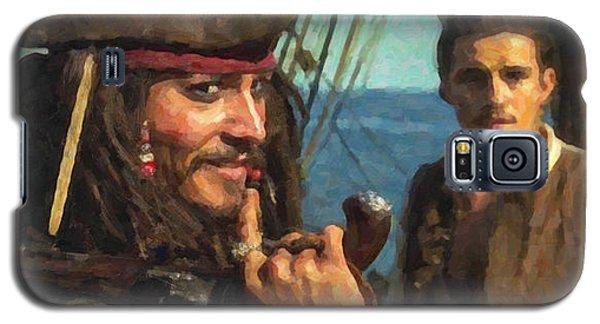 Cap. Jack Sparrow Galaxy S5 Case by Himanshu  Dubey