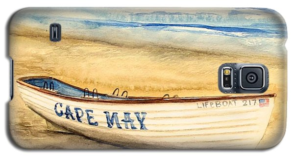 Cape May Lifeguard Boat - 2 Galaxy S5 Case by Nancy Patterson