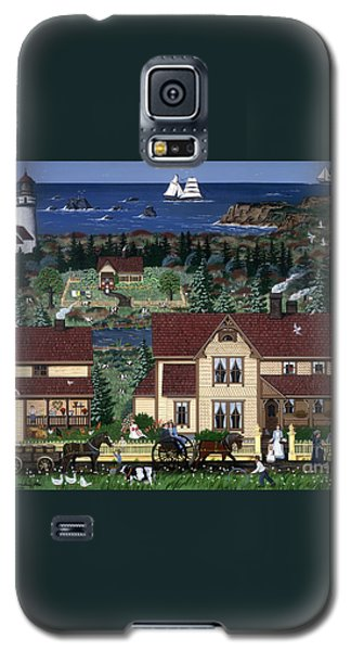 Galaxy S5 Case featuring the painting Cape Blanco by Jennifer Lake