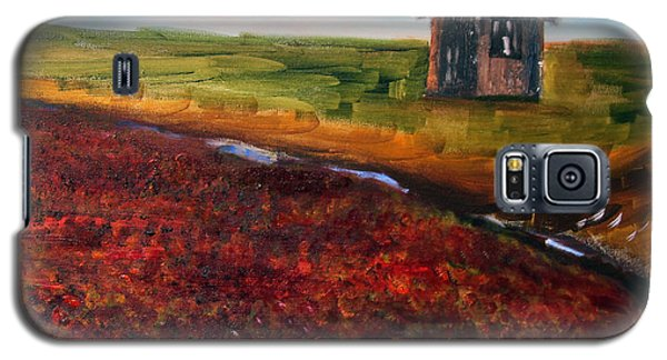 Galaxy S5 Case featuring the painting Cape Cod Cranberry Bog by Michael Helfen
