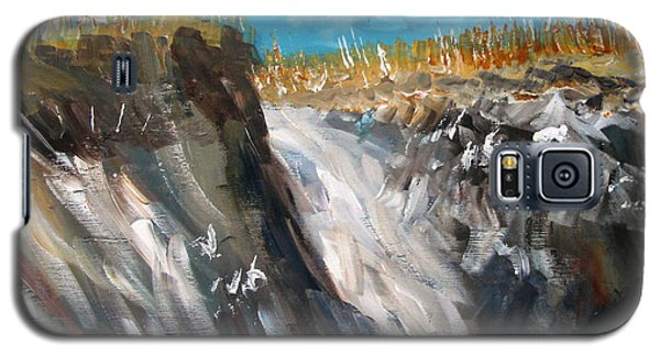 Galaxy S5 Case featuring the painting Cape Cod Dunes by Michael Helfen