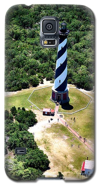 Cape Hatteras Lighthouse From Above Galaxy S5 Case by Tony Cooper