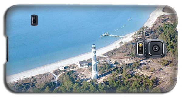Cape Lookout Lighthouse Aerial View Galaxy S5 Case