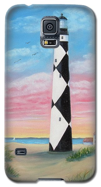 Galaxy S5 Case featuring the painting Cape Lookout Sunset by Fran Brooks