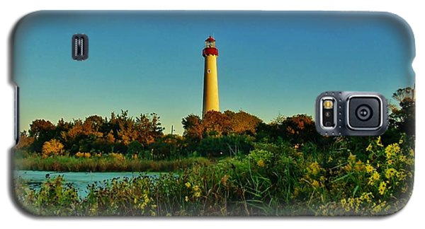 Cape May Lighthouse Above The Flowers Galaxy S5 Case by Ed Sweeney