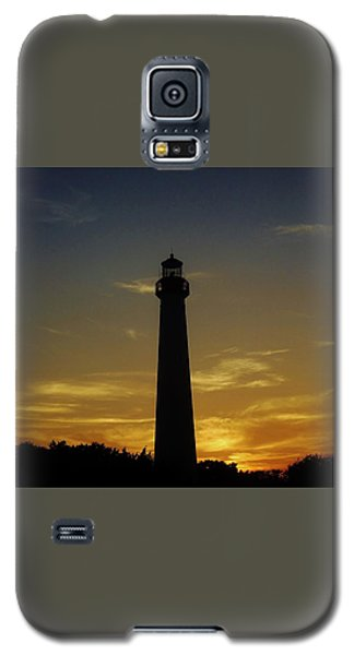 Galaxy S5 Case featuring the photograph Cape May Lighthouse At Sunset by Ed Sweeney