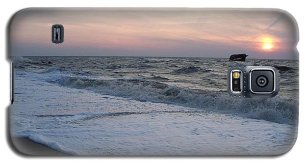 Cape May Sunset Beach Nj Galaxy S5 Case by Eric  Schiabor