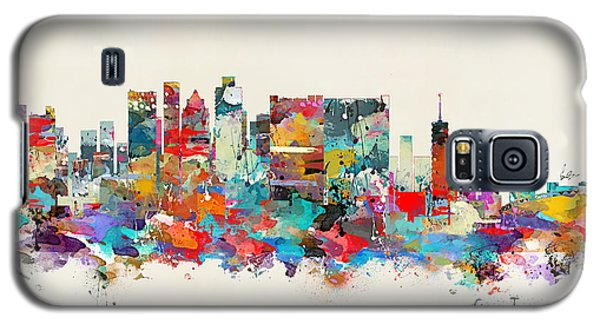 Town Galaxy S5 Case - Cape Town South Africa Skyline by Bri Buckley