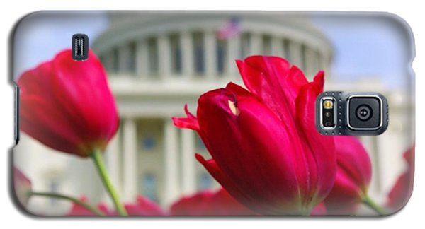 Galaxy S5 Case featuring the photograph Capital Flowers  by John S