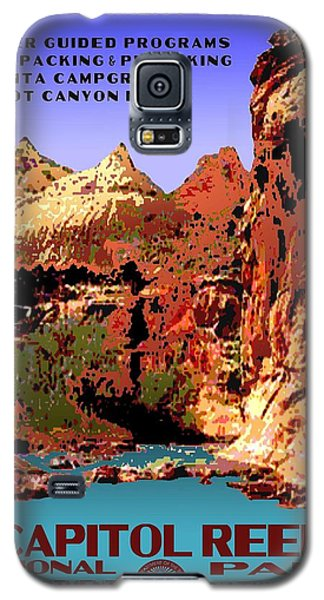 Capitol Reef National Park Vintage Poster Galaxy S5 Case