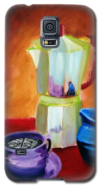 Galaxy S5 Case featuring the painting Cappuccino Morning by Keith Thue