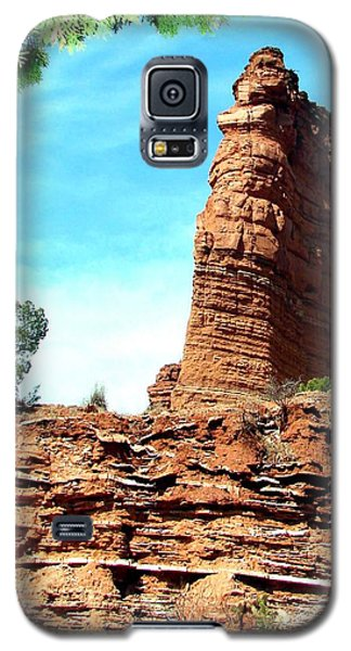 Galaxy S5 Case featuring the photograph Caprock Canyon Red by Linda Cox
