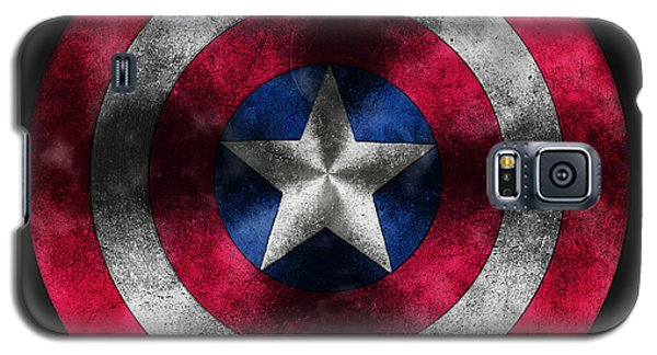 Captain America Shield Galaxy S5 Case by Georgeta Blanaru