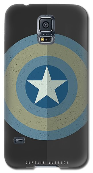 Galaxy S5 Case featuring the digital art Captain America Winter Soldier by Mike Taylor