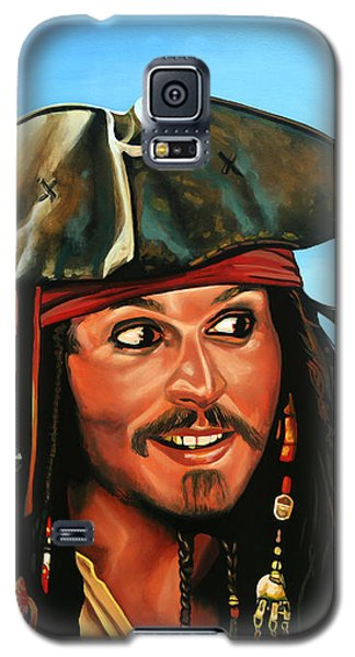 Johnny Depp Galaxy S5 Case - Captain Jack Sparrow Painting by Paul Meijering