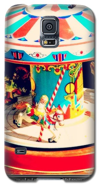 Captured On The Carousel Of Time Galaxy S5 Case by Beth Saffer